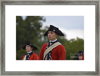Young Soldiers In Colonial Williamsburg Virginia Framed Print by DejaVu Designs