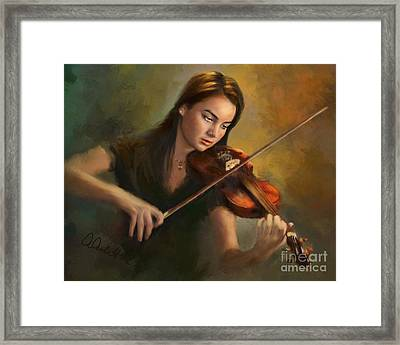 Young Soloist Framed Print