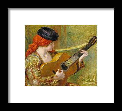 Spanish Guitar Framed Prints