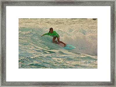 Young Surf Contestant Framed Print