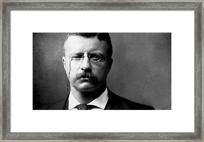 Young Theodore Roosevelt Framed Print by Bill Cannon