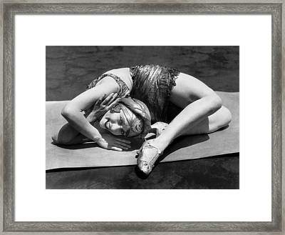 Young Woman Contortionist Framed Print by Underwood Archives