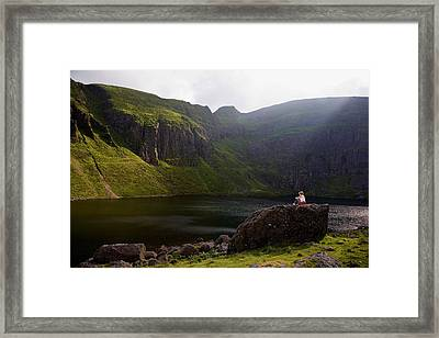 Young Woman Meditating, Coumshingaun Framed Print by Panoramic Images