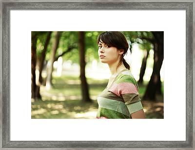 Young Woman Portait Framed Print by Anna Bryukhanova