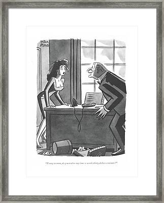Young Woman Framed Print by Richard Decker