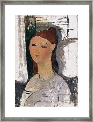 Young Woman, Seated, C.1915 Framed Print