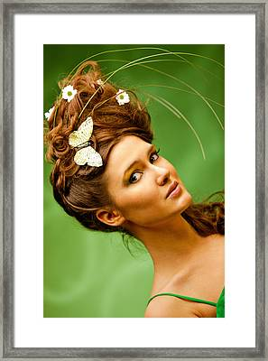 Young Woman Summer Portrait Framed Print