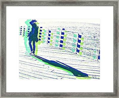 Young Woman With Hat Framed Print by Brian D Meredith