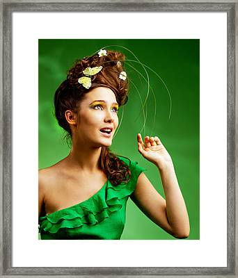 Young Woman With Smmer Make-up Framed Print
