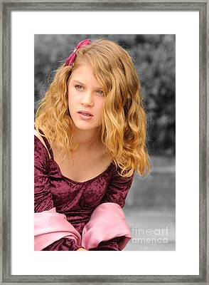 Young Woman's Portrait 2 Framed Print by Michael  Nau