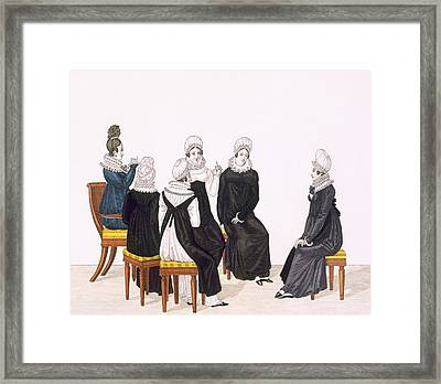 Young Women Chatting, C. 1820 Framed Print by French School