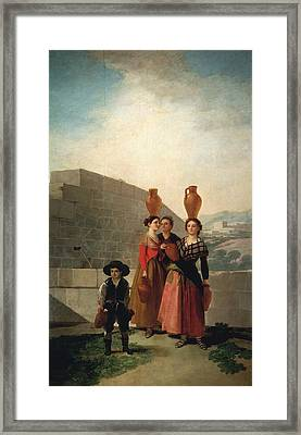 Young Women With Pitchers Framed Print by Francisco Goya