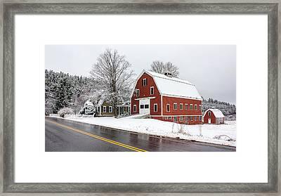 Young's Corner Barn Framed Print by Benjamin Williamson