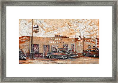 Young's Corral - Holbrook Az - Route 66 - The Mother Road Framed Print by Christine Till