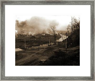 Youngstown, Rivers, Industrial Facilities Framed Print by Litz Collection