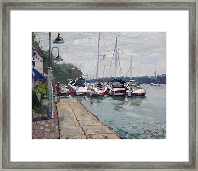 Youngstown Yachts Framed Print