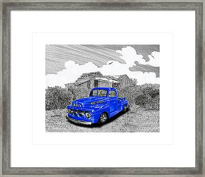 Your 1952 F 100 Pick Up In N M  Framed Print by Jack Pumphrey