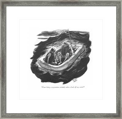 Your Being A Vegetarian Certainly Takes A Load Framed Print