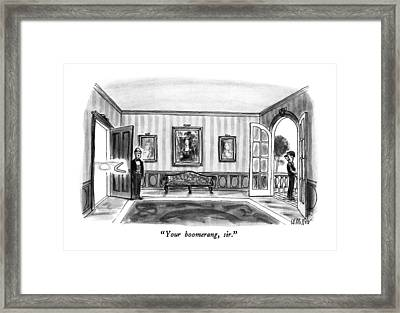 Your Boomerang Framed Print by Warren Miller