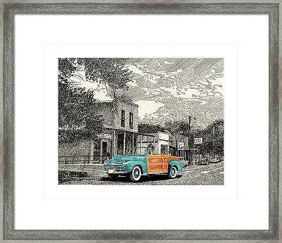 1946 Ford Sports Man Convertible  In Hillsboro N M  Framed Print by Jack Pumphrey