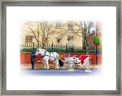 Your Carriage Awaits Framed Print