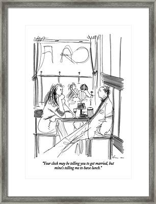 Your Clock May Be Telling You To Get Married Framed Print by Richard Cline