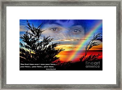 Your Face Framed Print