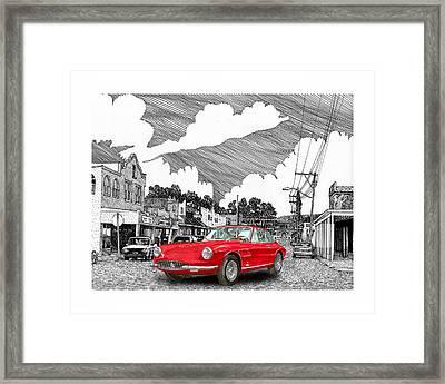 Your Ferrari In Tularosa N M  Framed Print by Jack Pumphrey