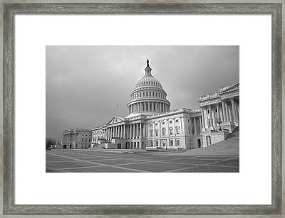 Your Government At Work Framed Print