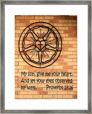 Your Heart Framed Print by Linda Phelps