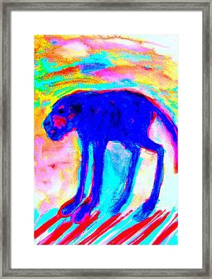 When Your Inner Dog Is Feeling Blue  Framed Print