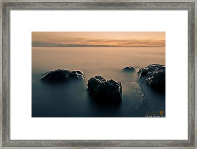 Your Life Is An Island Framed Print by Mario Dandi Romano