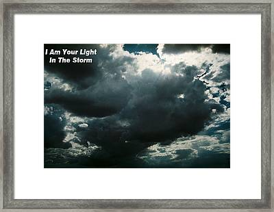 Your Light In The Storm Framed Print