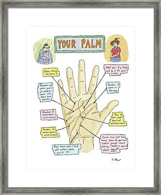 Your Palm Framed Print by Roz Chast