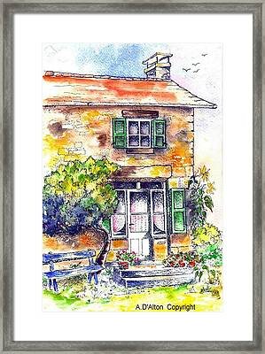 Your Place In Ths Sun Framed Print by Anne Dalton