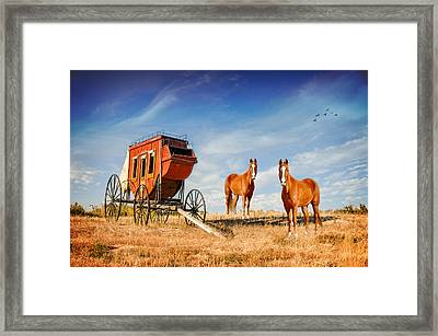 Your Ride Awaits Framed Print by Mary Timman