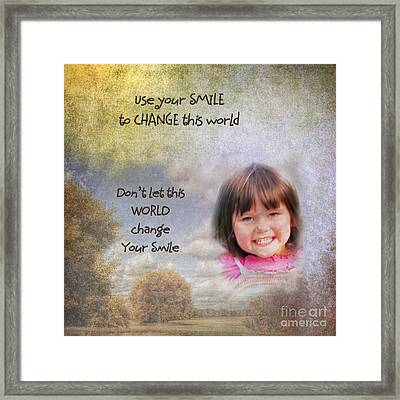 Your Smile Framed Print by Pamela Baker