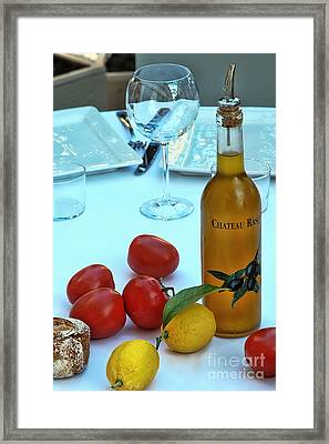 Framed Print featuring the photograph Your Table Is Ready by Allen Beatty