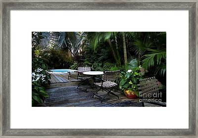 Your Table Is Ready Framed Print by Claudette Bujold-Poirier