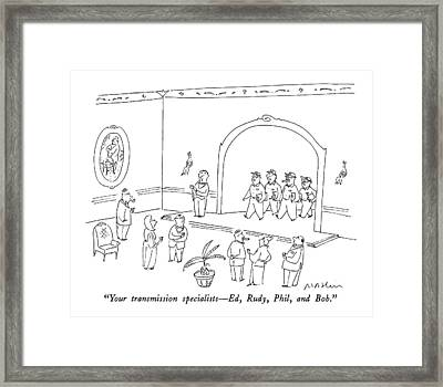 Your Transmission Specialists - Ed Framed Print by Michael Maslin