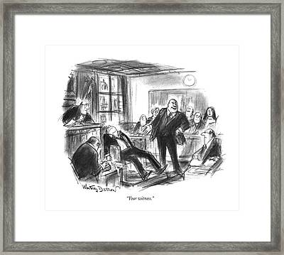 Your Witness Framed Print by Jr., Whitney Darrow