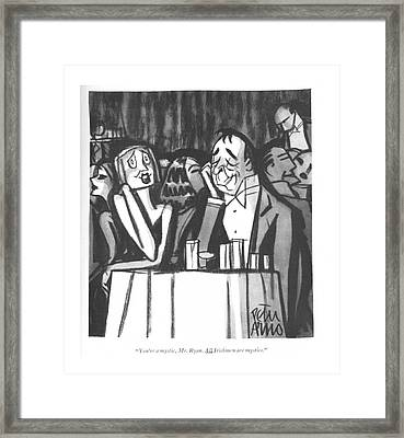 You're A Mystic Framed Print by Peter Arno