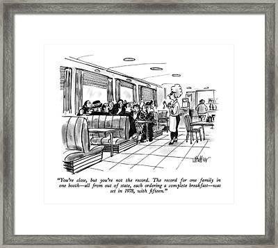 You're Close Framed Print by Warren Miller