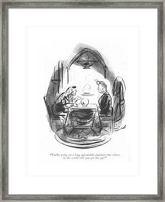 You're Going On A Long Automobile Journey - But Framed Print