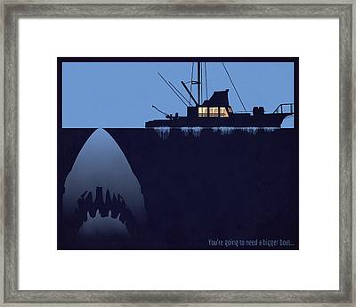 You're Going To Need A Bigger Boat Framed Print by Dak Mannella