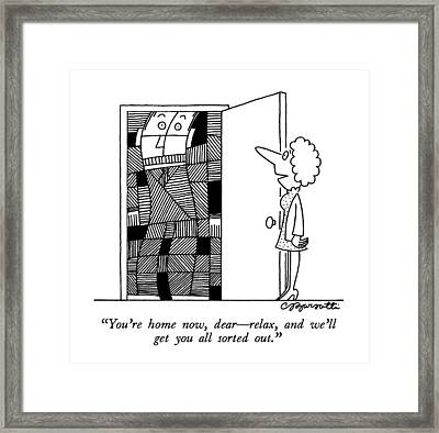 You're Home Now Framed Print by Charles Barsotti