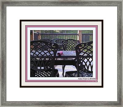 Framed Print featuring the digital art You're Invited by Angelia Hodges Clay