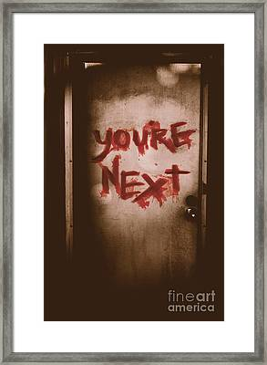 You're Next Framed Print by Jorgo Photography - Wall Art Gallery