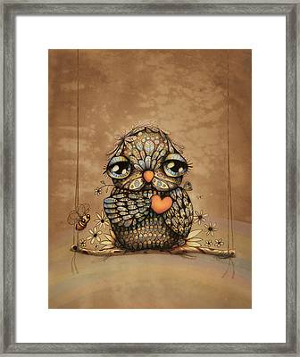 You're On My Heart Framed Print by Karin Taylor