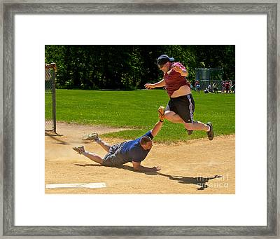 You're Out Framed Print by Mark Miller